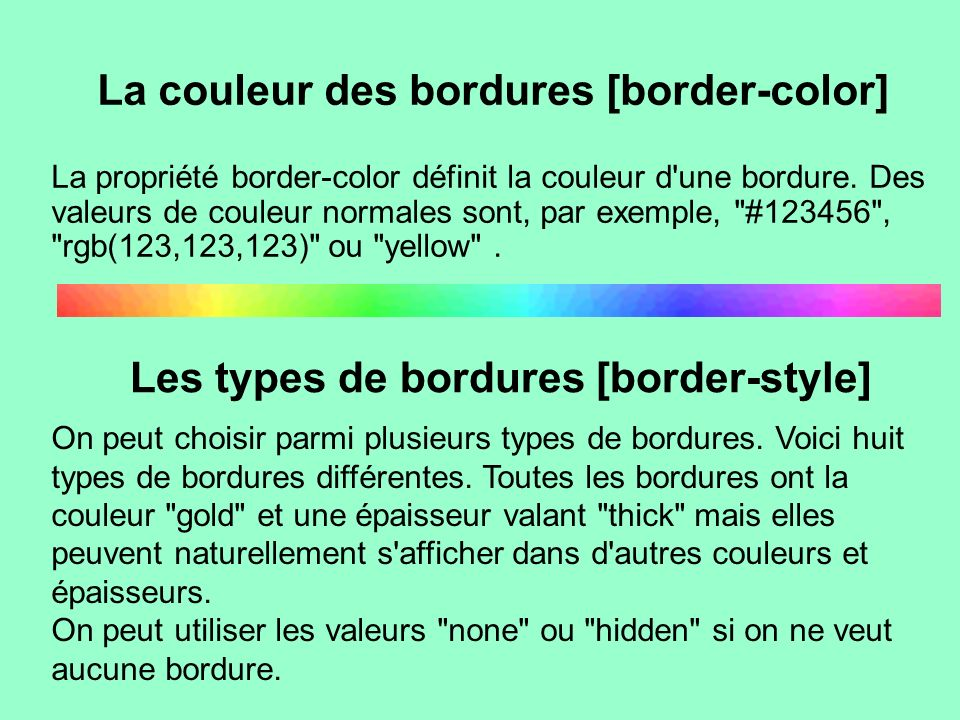 La couleur des bordures [border-color]
